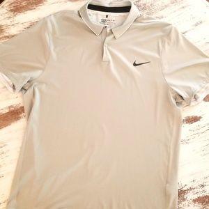 Nike Golf Modern Fit Dri Fit Polo Shirt Grey Large